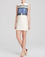 Tory Burch Beige Stripe Shift
