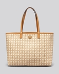 Beige Tote Kerrington Rattan Natural Printed Shopper