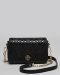 Black Shoulder Bag Robinson Patchwork Mini Chain