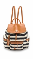 Blue Kerrington Backpack Awning Stripe