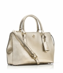 Gold Robinson Micro Double Zip Satchel