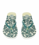 Tory Burch Green Thin Flip Flop