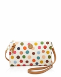 Tory Burch Kerrington Multi Dot White Crossbody