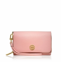 Tory Burch Pink Robinson Envelope Smartphone Wristlet
