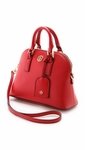 Tory Burch Red Robinson Mini Dome Satchel Black