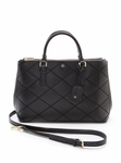 Tory Burch Robinson Stitched Mini Double-Zip Tote - 5.16