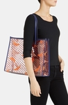 Tory Burch Transparent Lizzie Print Tote