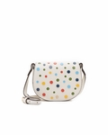 White Confetti Mini Saddle Bag