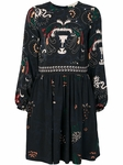 VANESSA BRUNO birds and flowers print flared dress - 9.12
