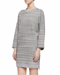 Vince Gray Melange Ribbed Knit Dress
