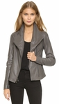 Vince Gray Scuba Leather Jacket - Ember