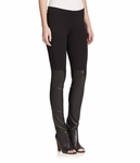 VINCE leather panel leggings - 11.17