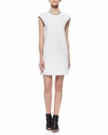 Vince Sculpted Ponte Sleeveless Shift