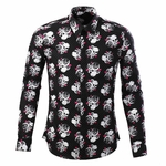 Vivienne Skull Printed Dress Shirt