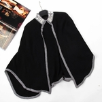 White High Drama Knit Cape (On Sale)