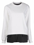 White Suiting Sweatshirt