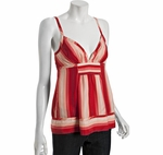 Lotus Silk Halo Stripe Babydoll Top
