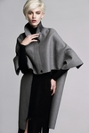 Wool Asymmetrical Cape Coat