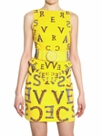 Yellow Logoed Stretch Crepe Dress (On Sale)