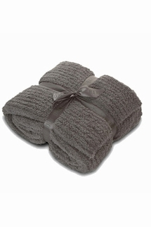 Barefoot Dreams CozyChic Ribbed Charcoal Throw