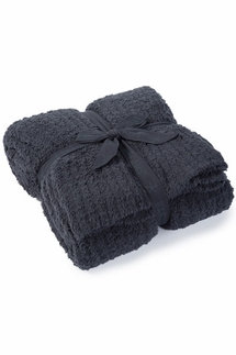 Barefoot Dreams CozyChic Ribbed Slate Blue Throw