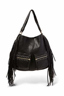 Big Buddha Dotty Fringe Hobo Bag