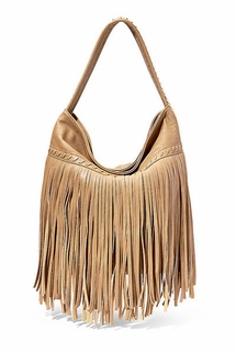 Big Buddha Giada Wheat Fringe Hobo Bag