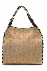 Big Buddha Grayson Silk Linen Handbag