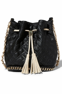 Big Buddha Hankie Black Crossbody Bag