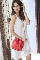 Big Buddha Hankie Coral Crossbody Bag