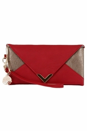 Big Buddha Kiara Red Clutch