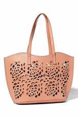Big Buddha Lillian Salmon Handbag
