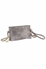 Big Buddha Rodeo Gunmetal Clutch/Cross Body