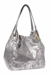 Big Buddha Union Snake Gunmetal Handbag