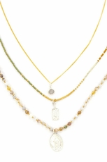Chan Luu African Opal Three Strand Necklace