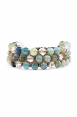 Chan Luu Aqua Mix Statement Bracelet