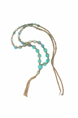 Chan Luu Aqua Semi-Precious Mix Necklace