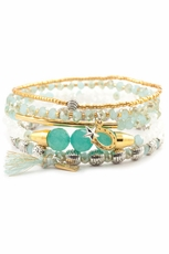 Chan Luu Mint Mix Bracelet Set
