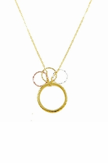 Charlene K Stackable Ring with 3 Small Circles Necklace