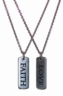 Dillon Rogers Rectangular Tag Charm Necklace