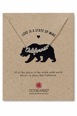Dogeared California Script Silver Necklace