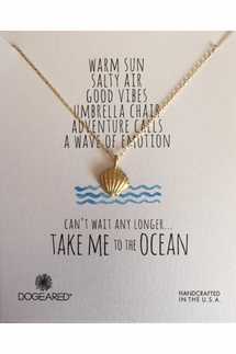 Dogeared Clam Shell Gold Necklace