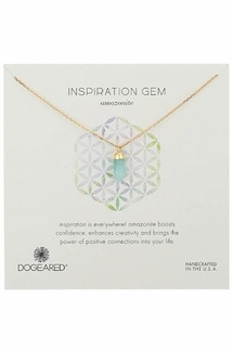 Dogeared Inspiration Amazonite Spear Necklace