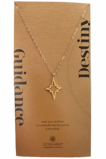Dogeared Large Open North Star Gold Necklace
