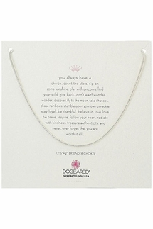 Dogeared Sparkle Sterling Silver Rope Chain Choker