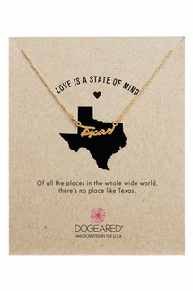 Dogeared Texas Script Gold Necklace