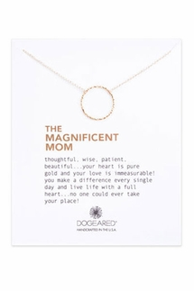 Dogeared The Magnificent Mom Sparkle Gold Necklace