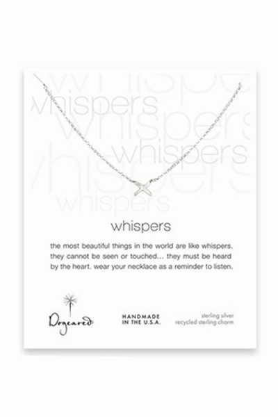 Dogeared Whispers X Sterling Silver Necklace