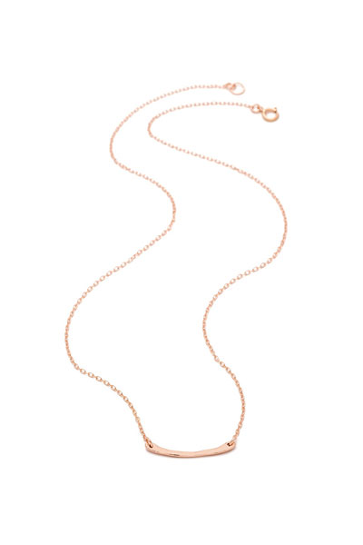 Gorjana Taner Bar Mini Rose Gold Necklace