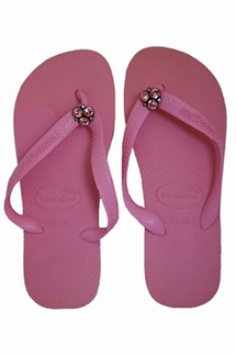 Havaianas Blush Rose with Light Pink Swarovski Crystals